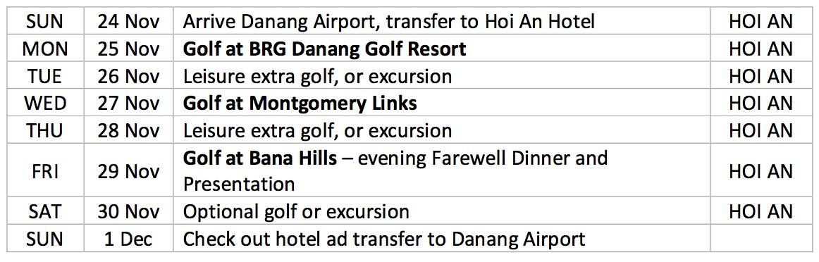 DANANG - HOI AN VIETNAM TOUR 2019 - Cocogolf com